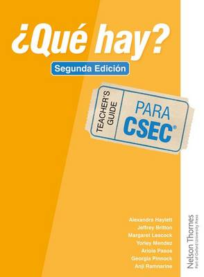 'Que Hay? Teacher's Guide CSEC by Christine Haylett, Georgia Pinnock, Jeffrey Britton, Margaret Leacock