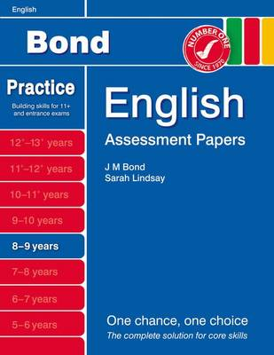 Bond Assessment Papers English 8-9 Yrs by Sarah Lindsay