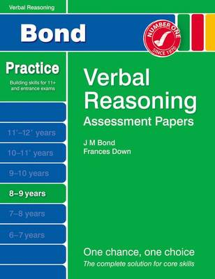 Bond Assessment Papers Verbal Reasoning 8-9 Yrs by Frances Down