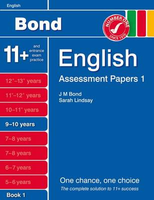 Bond Assessment Papers English 9-10 Yrs Book 1 by Sarah Lindsay