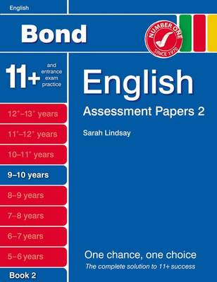 Bond Assessment Papers English 9-10 Yrs Book 2 by Sarah Lindsay