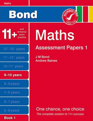 Bond Assessment Papers Maths 9-10 Years Book 1 by Andrew Baines