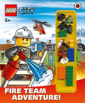 LEGO CITY: Fire Team Adventure! Storybook with Minifigures and Accessories by