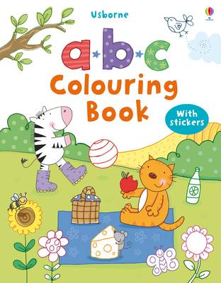 ABC Colouring Sticker Book by Stacey Lamb