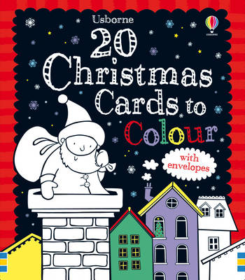 20 Christmas Cards to Colour by Candice Whatmore