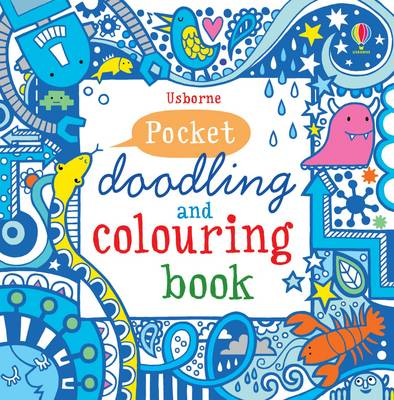 Pocket Doodling and Colouring Book Blue Book by Non Figg