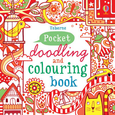 Red Pocket Doodling & Colouring Book by