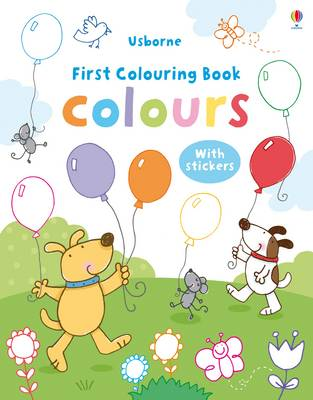 Colours Colouring Book with Stickers by