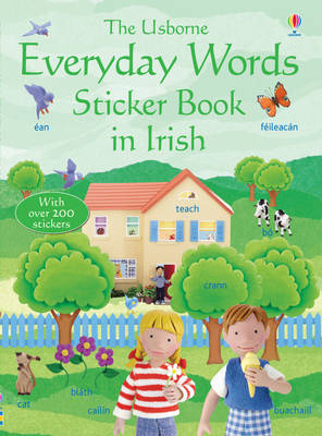 Everyday Words in Irish Sticker Book by Felicity Brooks