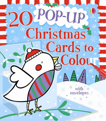 20 Pop-up Christmas Cards to Colour by Candice Whatmore