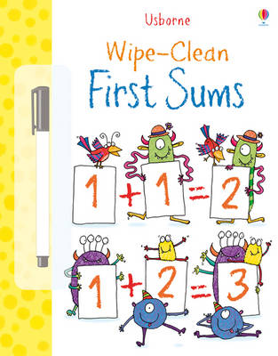 Wipe Clean: First Sums by Jessica Greenwell