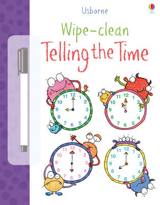 Wipe Clean Telling the Time by Jessica Greenwell