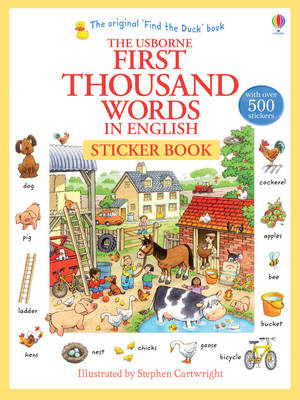 First Thousand Words in English Sticker Book by Heather Amery