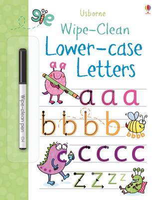 Wipe-Clean Lower-Case Letters by Jessica Greenwell