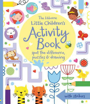 Little Children's Activity Book Spot the Difference, Puzzles and Drawing by