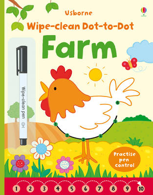 Wipe-Clean Dot-to-Dot Farm by Katrina Fearn