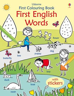 First Colouring Book First English by Kirsteen Robson