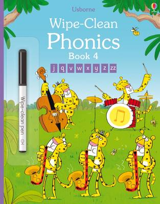 Wipe-Clean Phonics Book 4 by Mairi Mackinnon