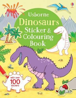 Dinosaurs Sticker & Colouring Book by Sam Taplin