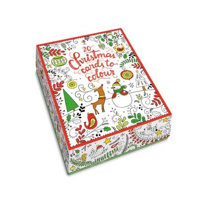 20 Christmas Cards to Colour by Dinara Mirtalipova