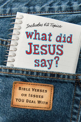 What Did Jesus Say? Bible Verses on Issues You Deal with by Diane Bay