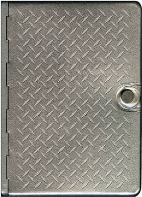 Metal Bible-NLT-Metal Diamond Plate by Tyndale House Publishers