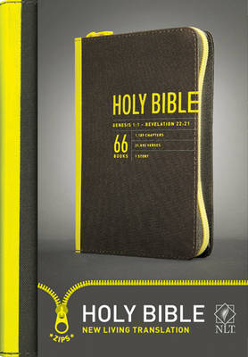 Compact Bible-NLT-Zipper Closure by Tyndale House Publishers