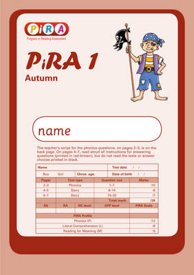 Progress in Reading Assessment Test 1, Autumn Pk10 by Colin McCarty, Kate Ruttle