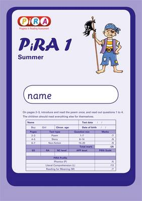Progress in Reading Assessment Test 1, Summer Pk10 by Colin McCarty, Kate Ruttle