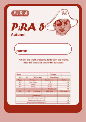 Progress in Reading Assessment Test 5, Autumn Pk10 by Colin McCarty, Kate Ruttle