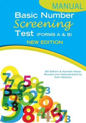Basic Number Screening Test Specimen Set by Bill Gillham, Ken Hesse, Colin McCarty