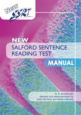 New Salford Sentence Reading Test: Specimen Set by Colin McCarty, Marie Lallaway