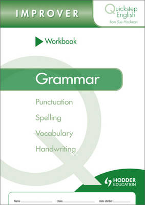 Workbook Grammar Improver Stage by Sue Hackman