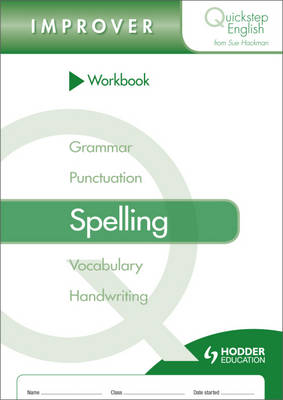 Workbook Spelling Improver Stage by Sue Hackman