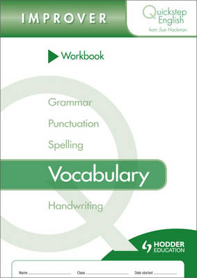 Workbook Vocabulary Improver Stage by Sue Hackman