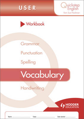 Quickstep English Workbook Vocabulary User Stage by Sue Hackman