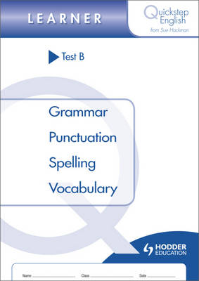 Quickstep English Test B Learner Stage by Sue Hackman