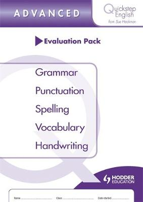 Quickstep English Advanced Stage Evaluation Pack by Sue Hackman