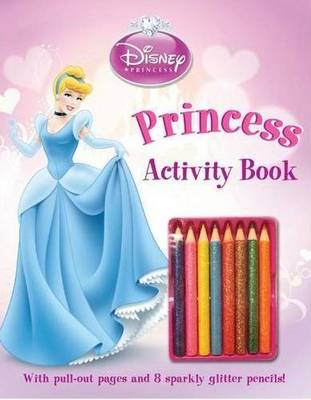 Disney Glitter Pencil Colouring Princess by