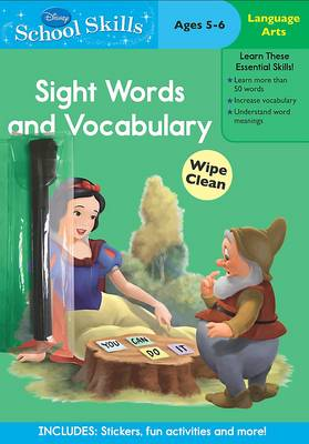 Disney School Skills Princess Sight Words and Vocabulary by