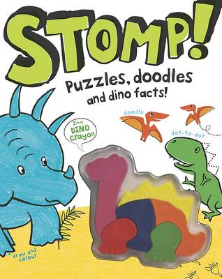 Stomp! - Dinosaur Activity Book with Shaped Crayons by