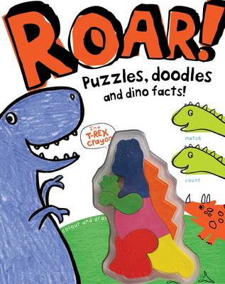 Roar! - Dinosaur Activity Book with Shaped Crayons by