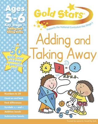 Gold Stars KS1 Adding and Taking Away Workbook Age 5-7 by