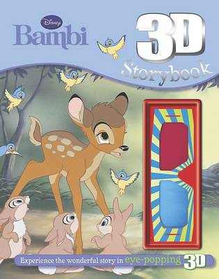 Disney Bambi 3d Storybook with 3d Glasses by