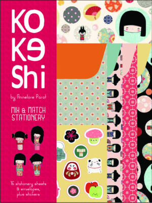 Kokeshi Mix & Match Stationery by Annelore Parot