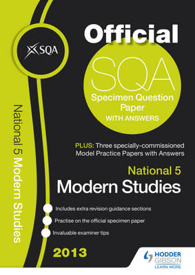 SQA Specimen Paper National 5 Modern Studies and Model Papers by SQA