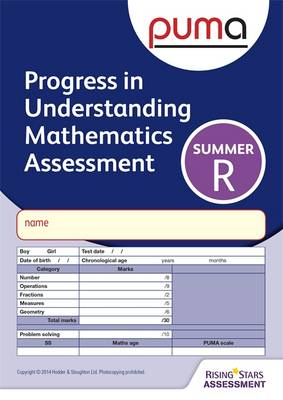 PUMA Test R, Summer Pk10 (Progress in Understanding Mathematics Assessment) by Colin McCarty, Caroline Cooke