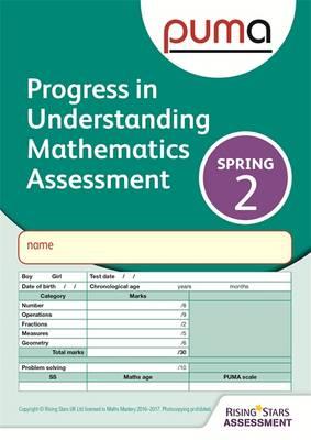 PUMA Test 2, Spring Pk10 (Progress in Understanding Mathematics Assessment) by Colin McCarty, Caroline Cooke
