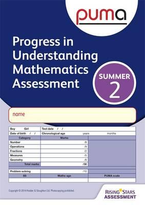 PUMA Test 2, Summer Pk10 (Progress in Understanding Mathematics Assessment) by Colin McCarty, Caroline Cooke