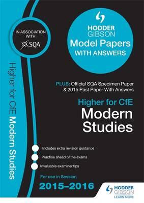 Higher Modern Studies 2015/16 SQA Specimen, Past and Hodder Gibson Model Papers by SQA